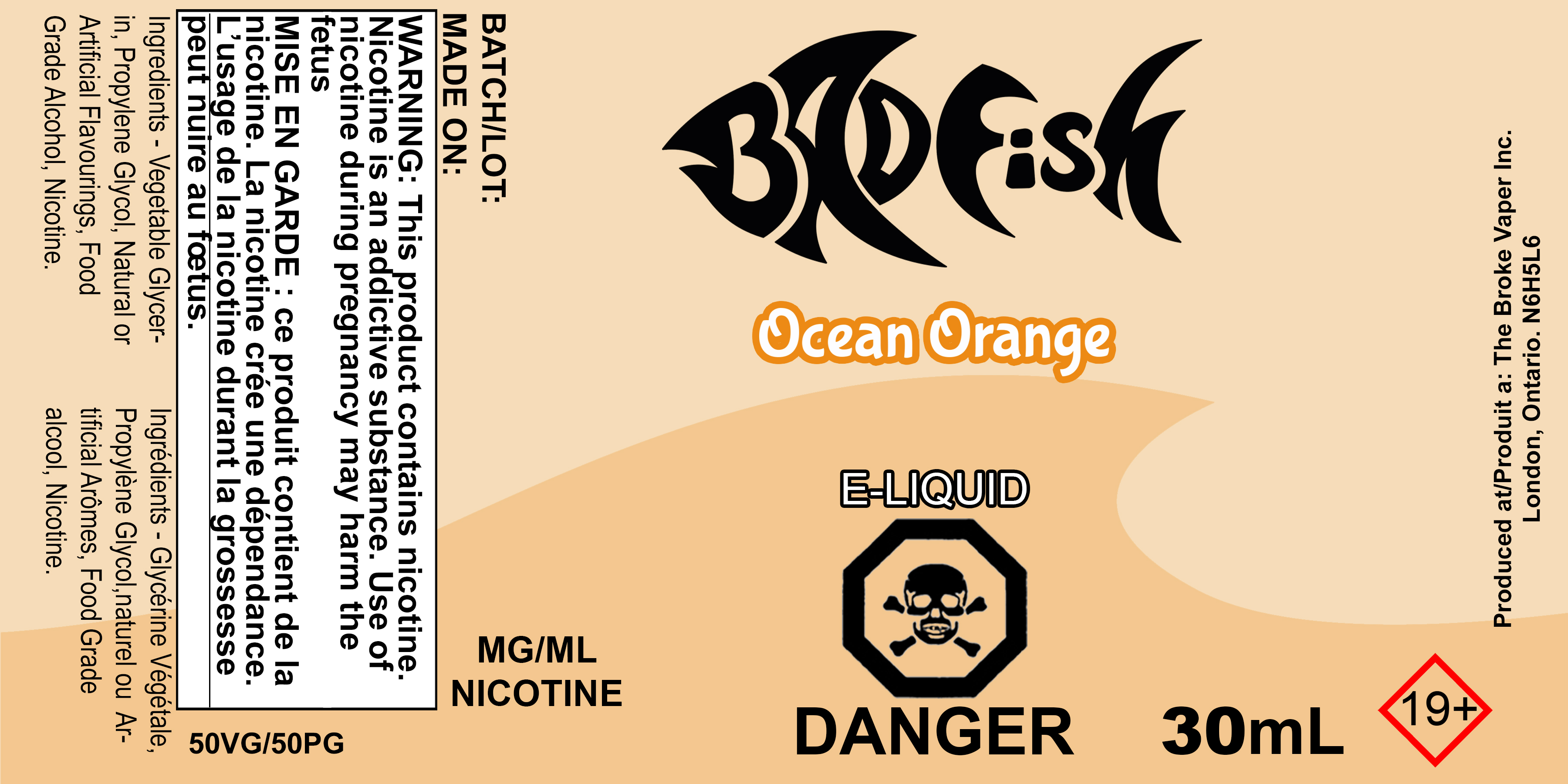 BF 30ML OCEAN ORANGE SALT